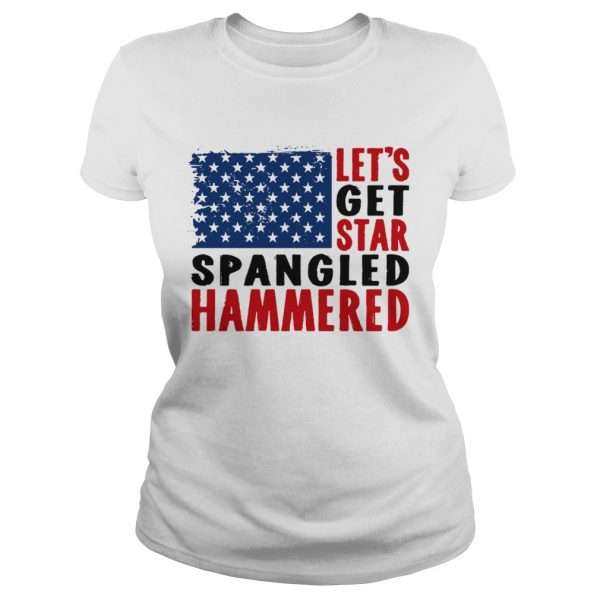 Lets get star spangled hammered flag  Classic Ladies