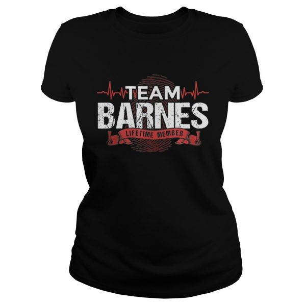Awesome Barnes Team Family Reunions DNA Heartbeat  Classic Ladies