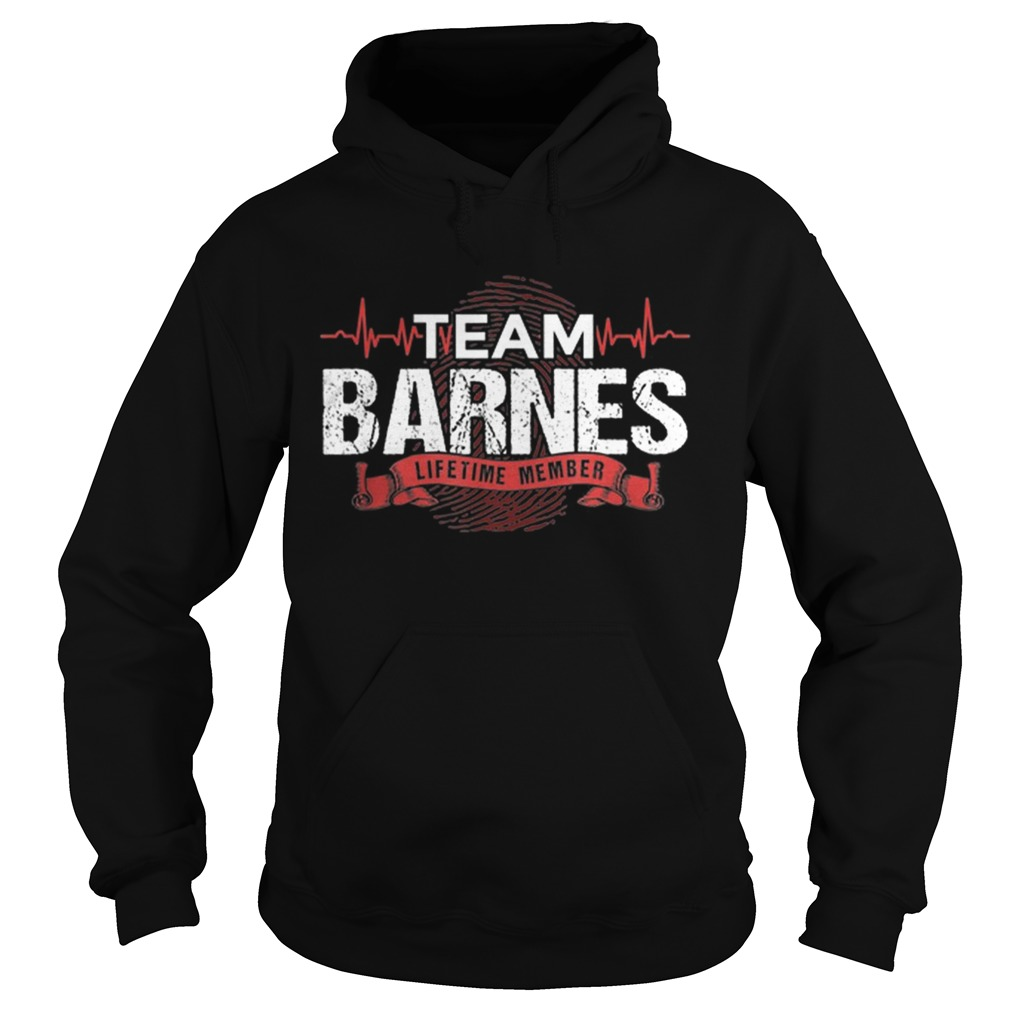 Awesome Barnes Team Family Reunions DNA Heartbeat  Hoodie