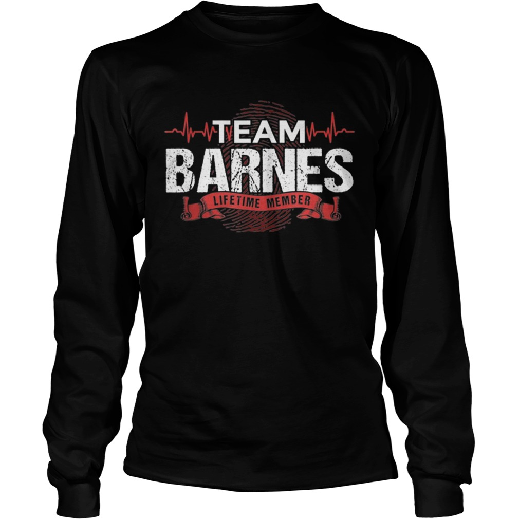 Awesome Barnes Team Family Reunions DNA Heartbeat  LongSleeve