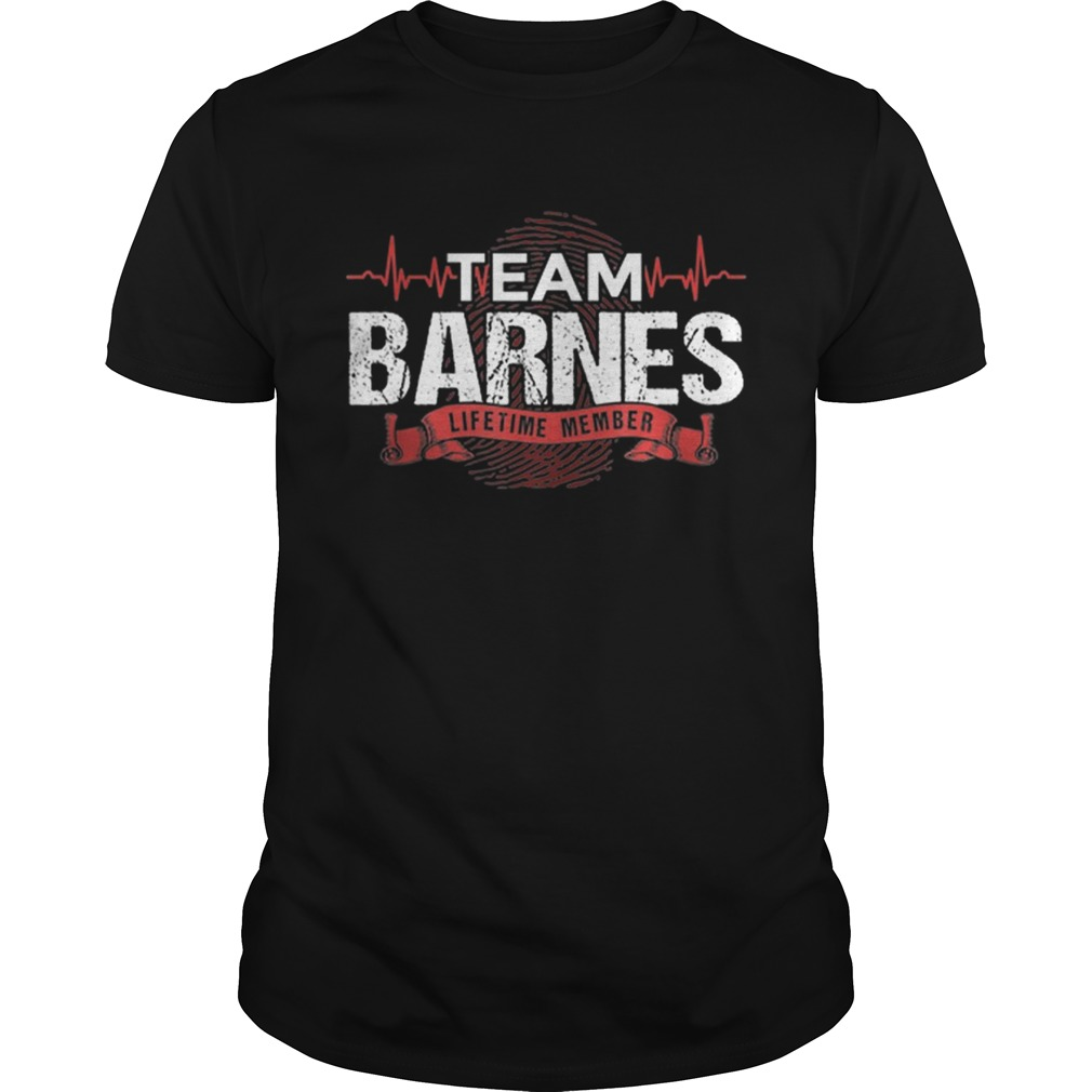 Awesome Barnes Team Family Reunions DNA Heartbeat  Unisex