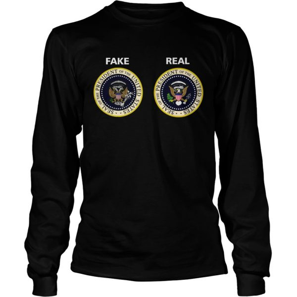Real and Fake Presidential Seal  LongSleeve