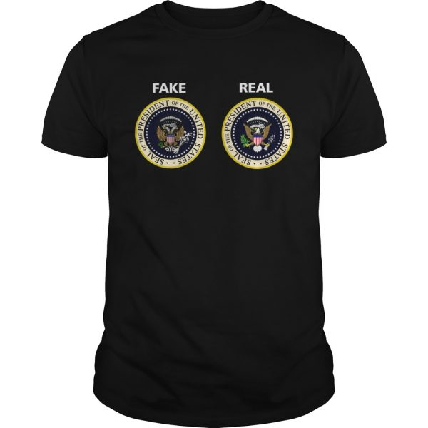 Real and Fake Presidential Seal  Unisex