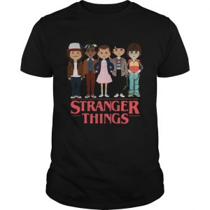 Stranger Things angry cartoon characters face  Unisex