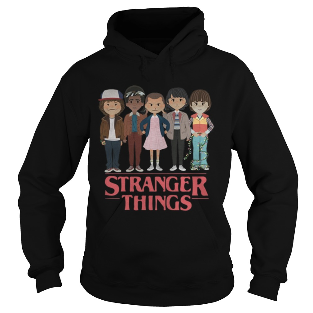 Stranger Things angry cartoon face characters  Hoodie