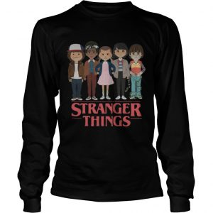 Stranger Things angry cartoon face characters  LongSleeve