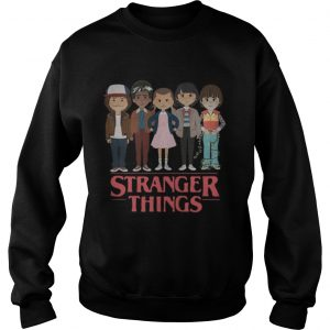Stranger Things angry cartoon face characters  Sweatshirt