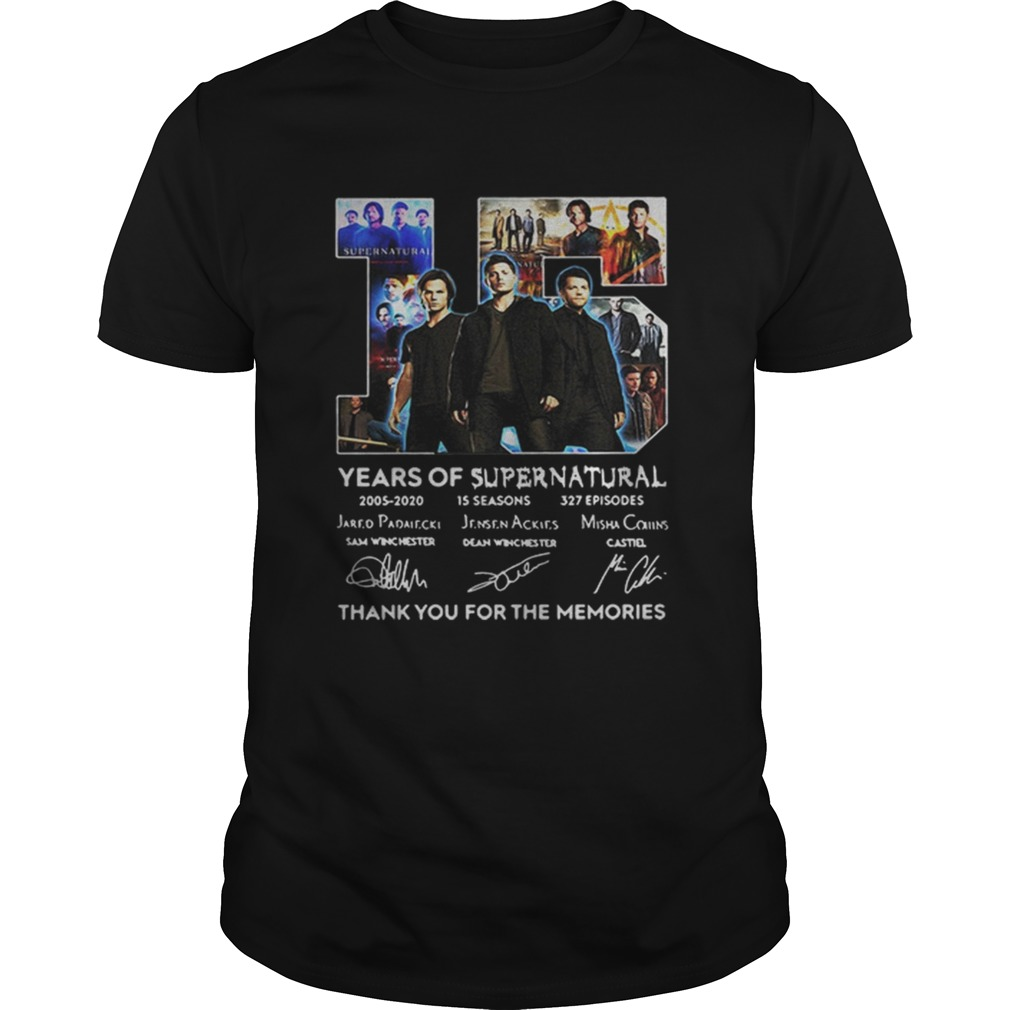 15 Years Of Supernatural Thank For The Memories Signature  Unisex