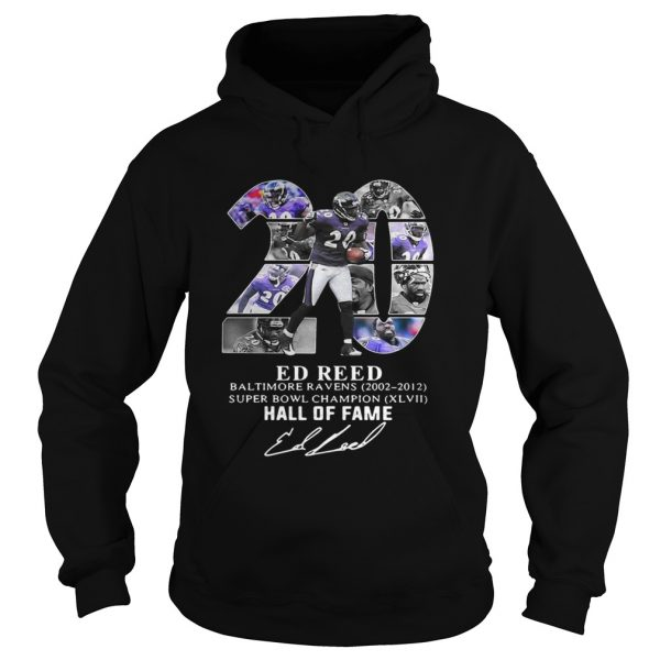 20 Ed Reed Baltimore Ravens 20022012 super Bowl Champion hall of fame  Hoodie