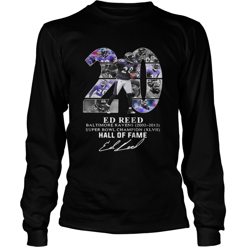 20 Ed Reed Baltimore Ravens 20022012 super Bowl Champion hall of fame  LongSleeve