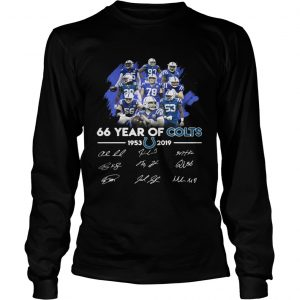 66 years of Colts 19532019 signature  LongSleeve