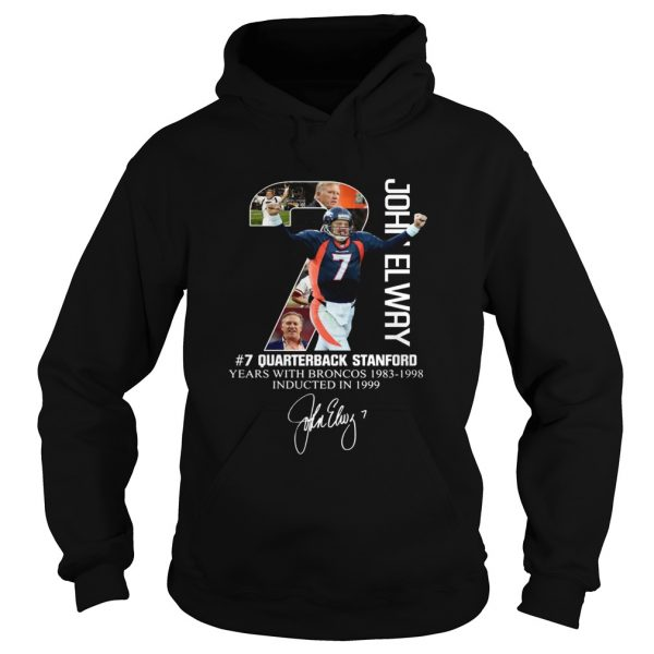 7 John Elway Quarterback Stanford years with Broncos  Hoodie
