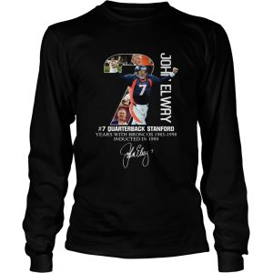 7 John Elway Quarterback Stanford years with Broncos  LongSleeve