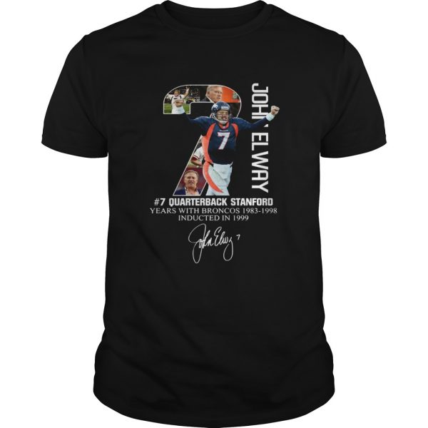 7 John Elway Quarterback Stanford years with Broncos  Unisex