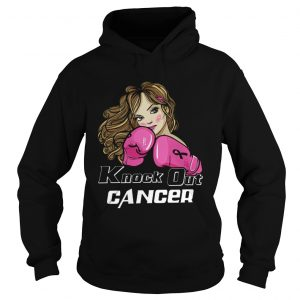 Awesome Girl Boxing knock out cancer  Hoodie
