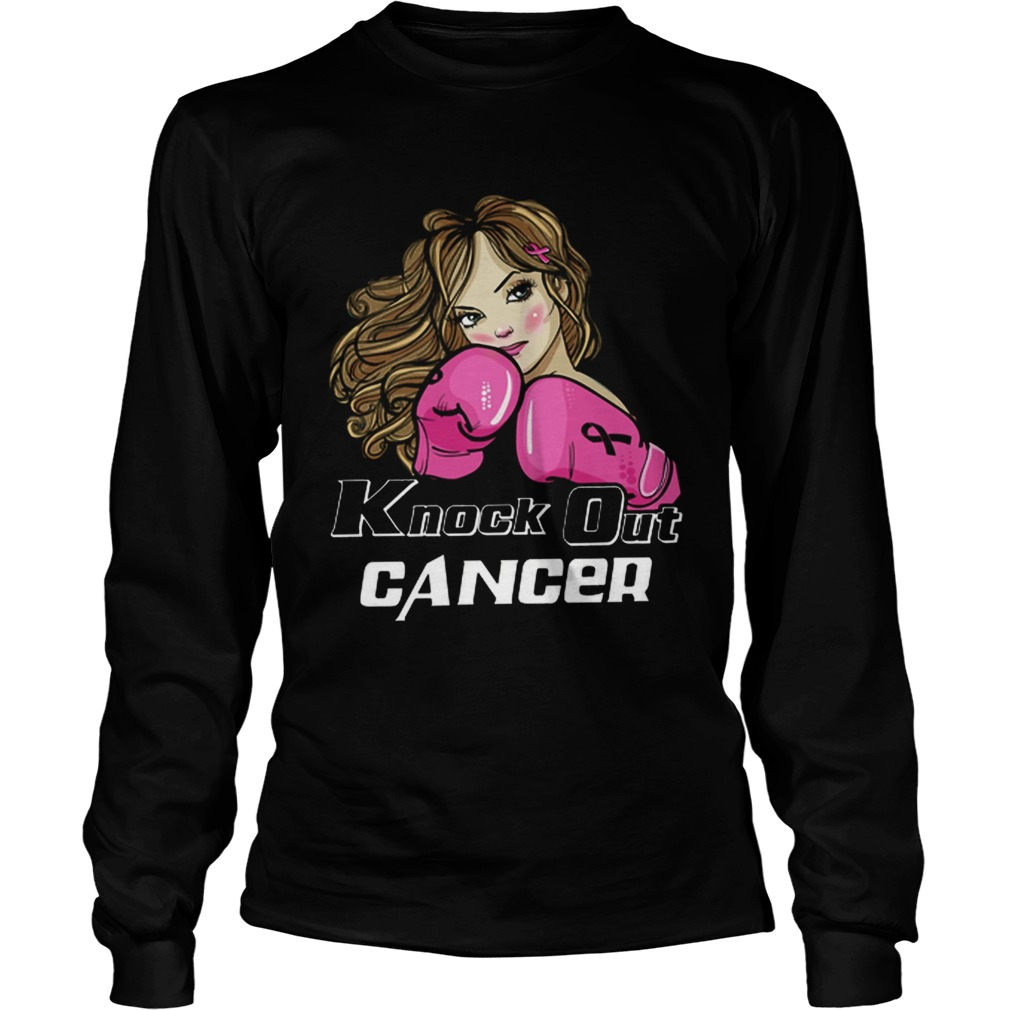 Awesome Girl Boxing knock out cancer  LongSleeve