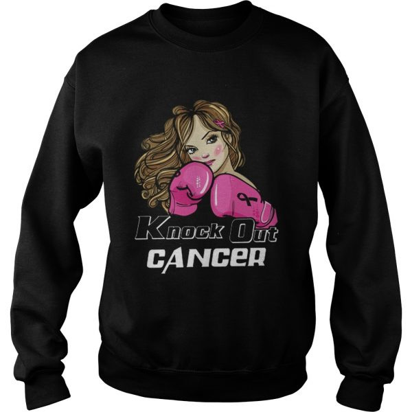 Awesome Girl Boxing knock out cancer  Sweatshirt
