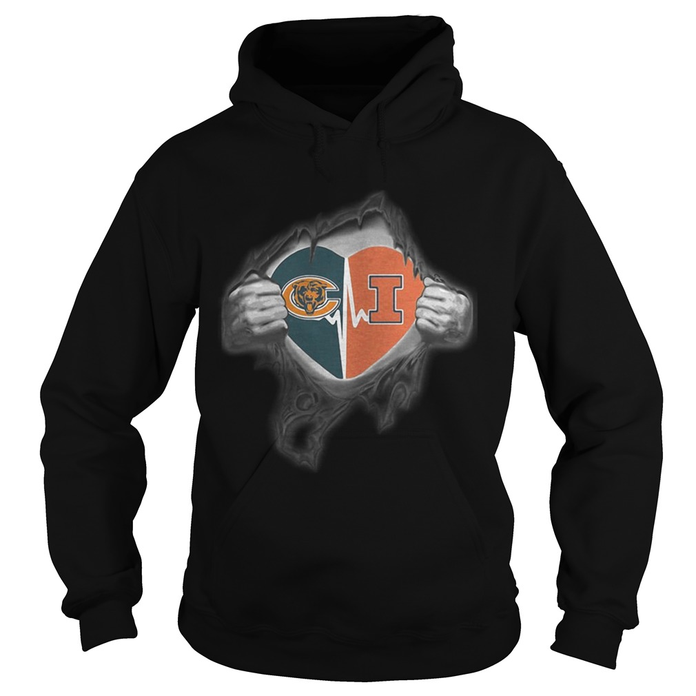 Bears Illinois Its in my heart inside me  Hoodie
