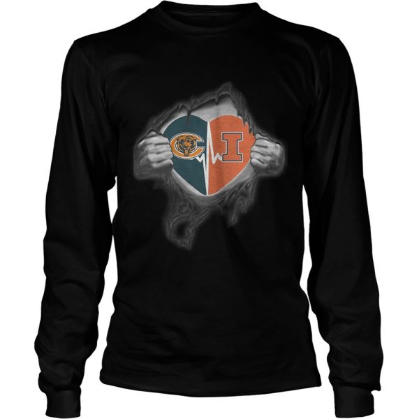 Bears Illinois Its in my heart inside me  LongSleeve