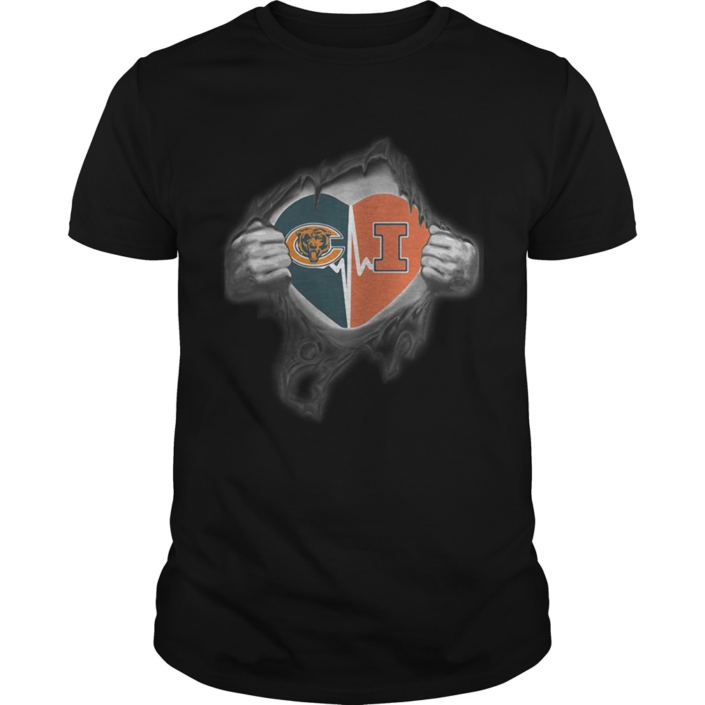 Bears Illinois Its in my heart inside me  Unisex