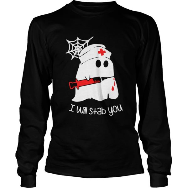 Ghost boo I will stab you  LongSleeve