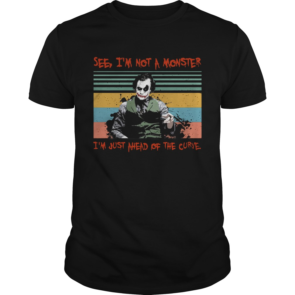 Joker see Im not a monster Im just a head of the curve vintage  Unisex