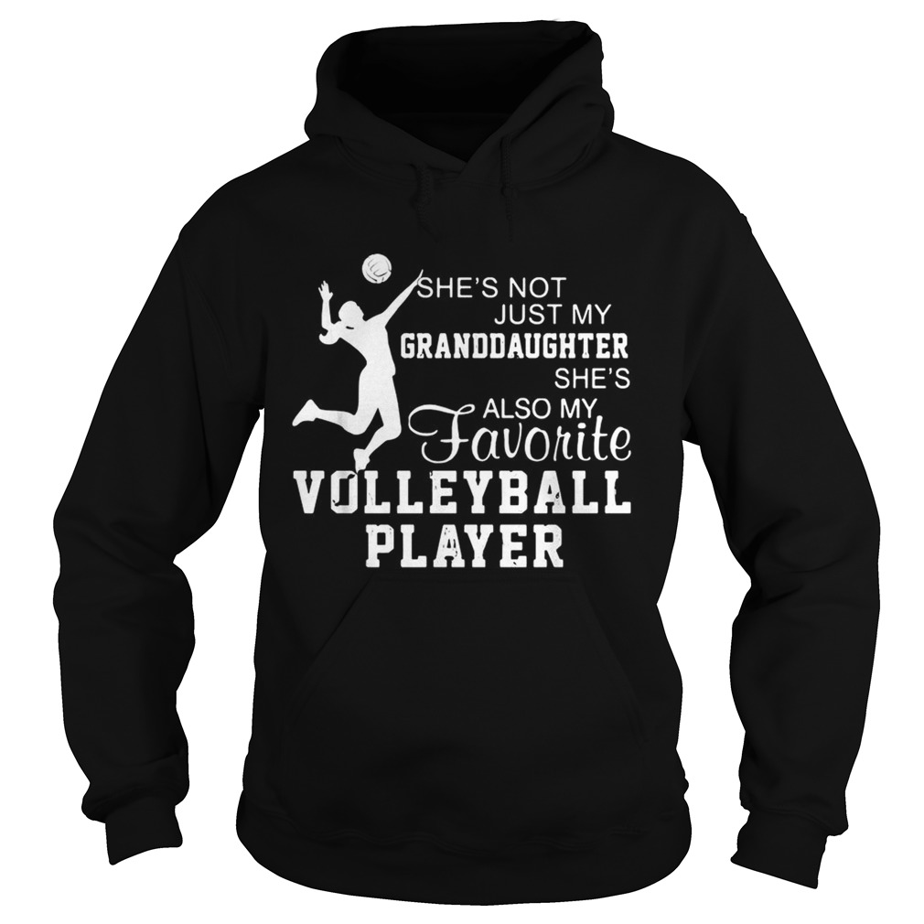 Shes not just my granddaughter shes also my favorite volleyball player  Hoodie