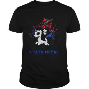 Skeleton riding death metal unicorn  Unisex