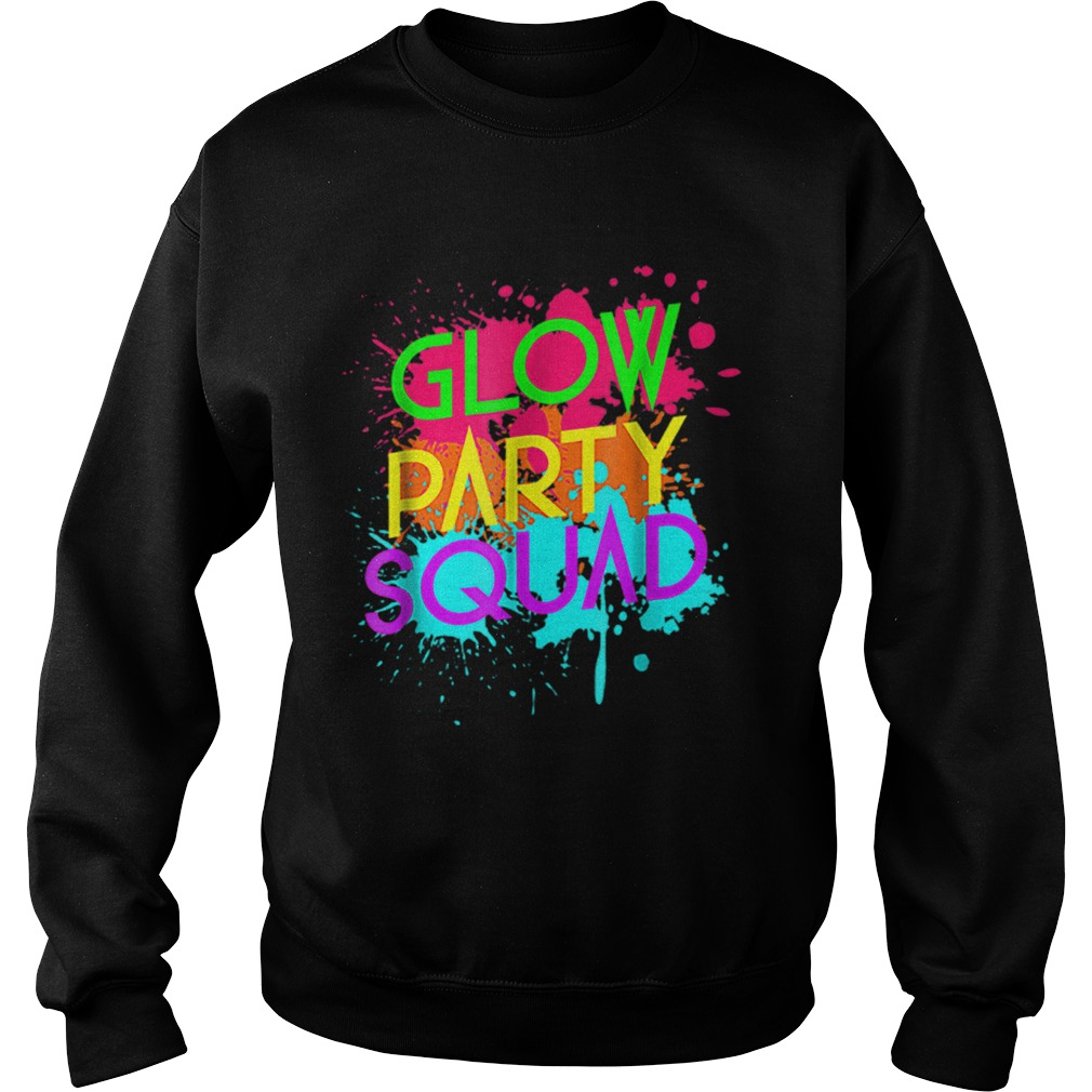 Awesome Glow Party SquadNeon Effect Group Halloween  Sweatshirt