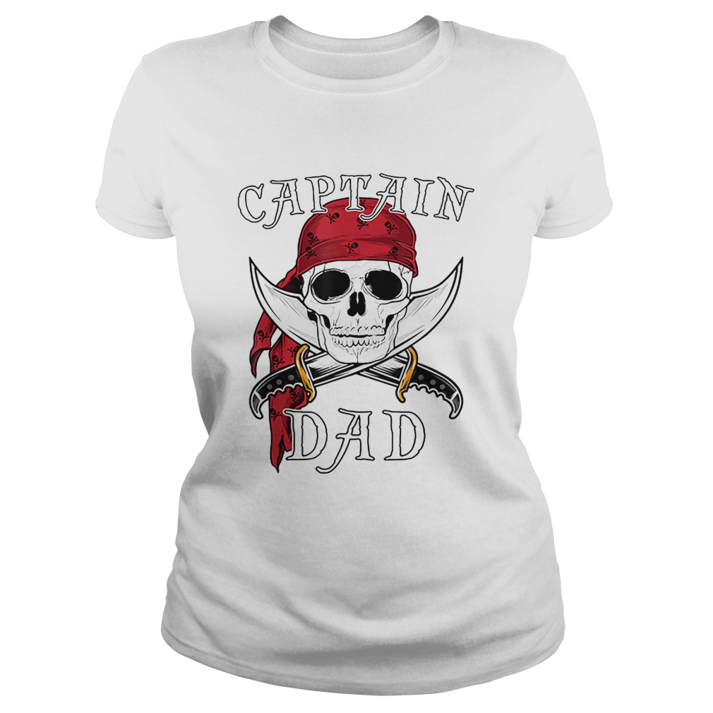 Captain Dad Funny Halloween Pirate Skull Gift  Classic Ladies