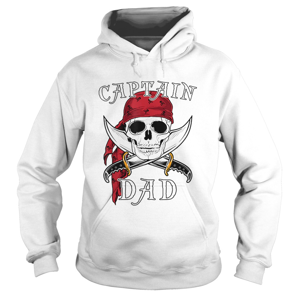 Captain Dad Funny Halloween Pirate Skull Gift  Hoodie