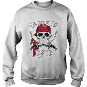 Captain Dad Funny Halloween Pirate Skull Gift  Sweatshirt