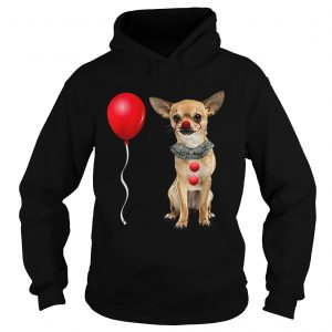 Chihuahua Scary Clown Funny Halloween Costume Gift  Hoodie