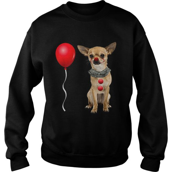 Chihuahua Scary Clown Funny Halloween Costume Gift  Sweatshirt
