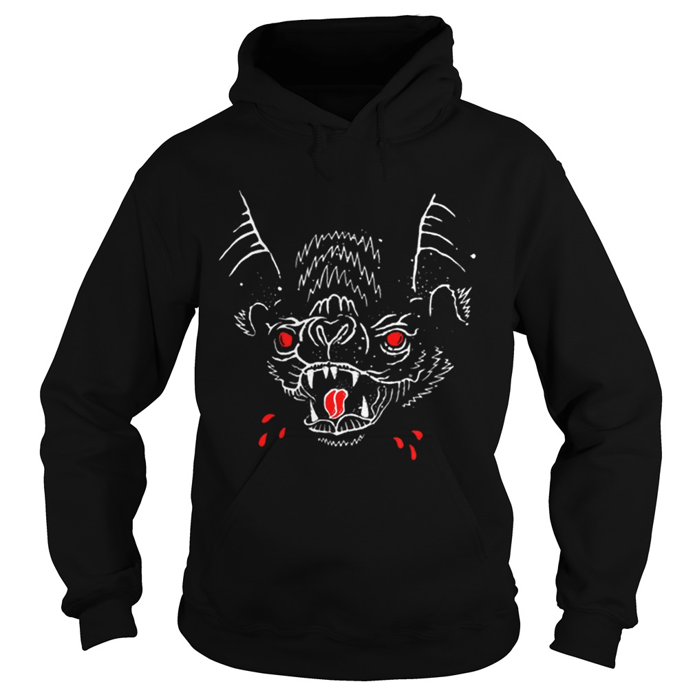 Creepy Spooky Halloween Vampire Bat Blood  Hoodie