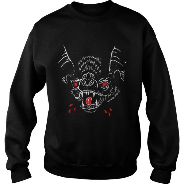 Creepy Spooky Halloween Vampire Bat Blood  Sweatshirt