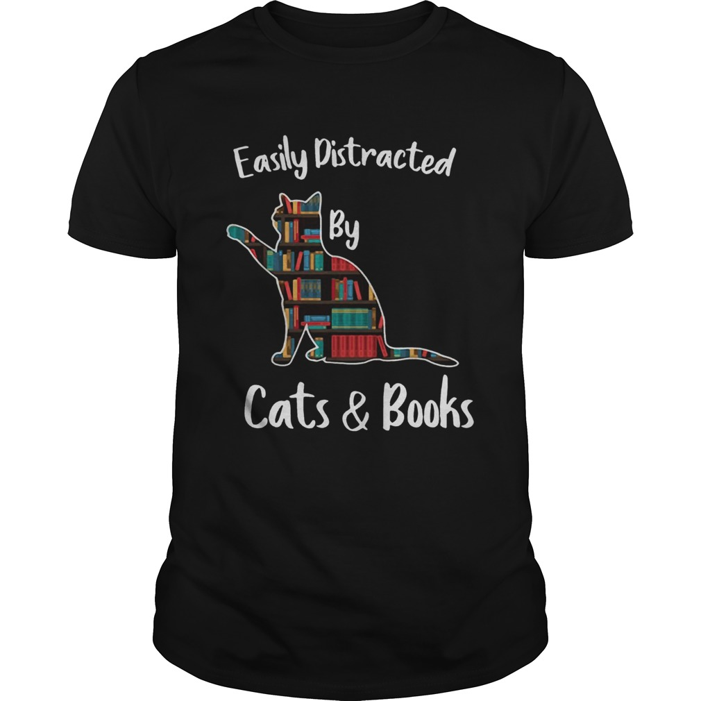 Easily distracted by cats and books  Unisex