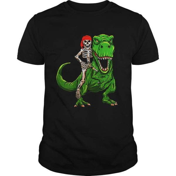 Funny Pirate Skeleton On T Rex Dinosaur Halloween Costume Gifts  Unisex