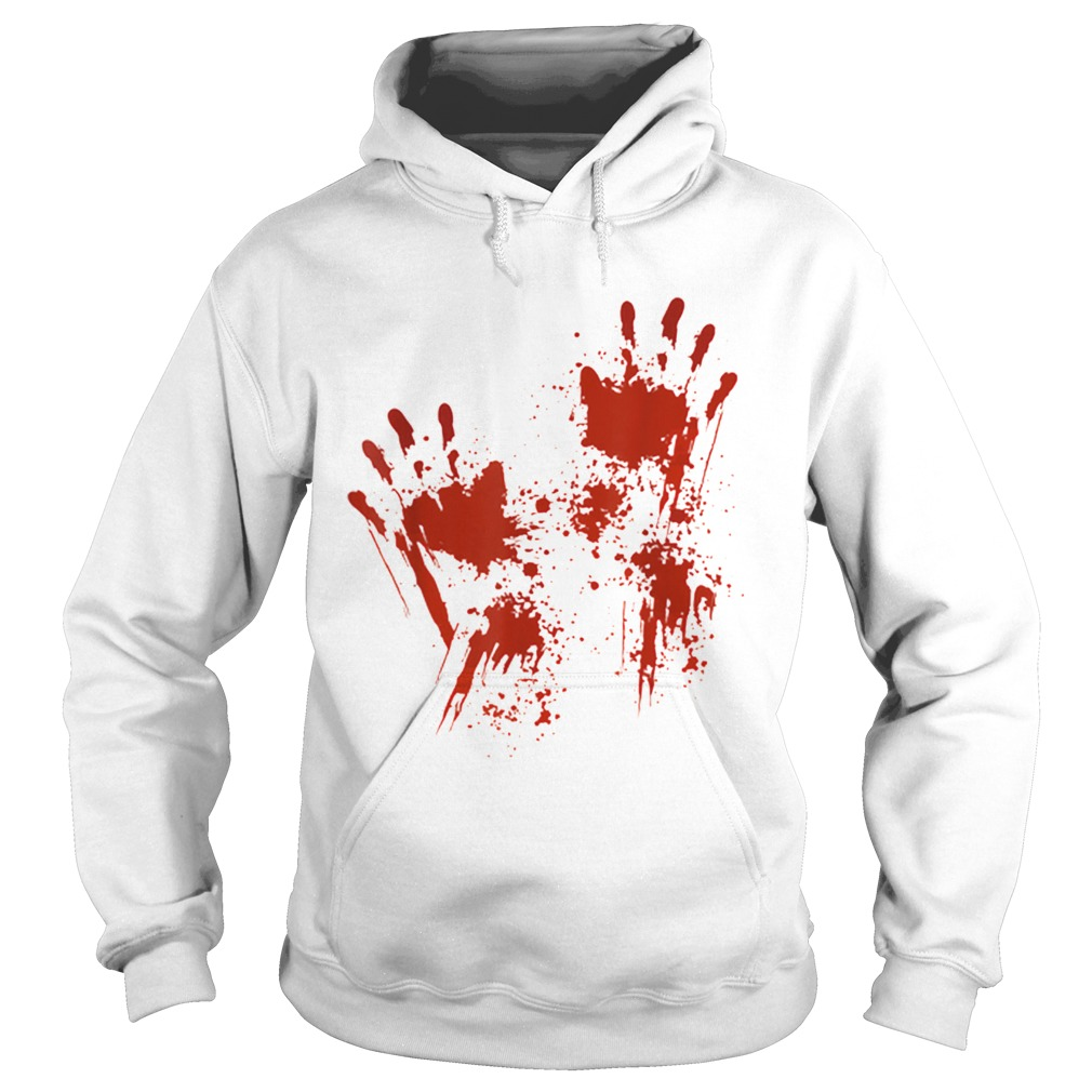 Halloween Blood Hands Costume Zombie Outfit  Hoodie
