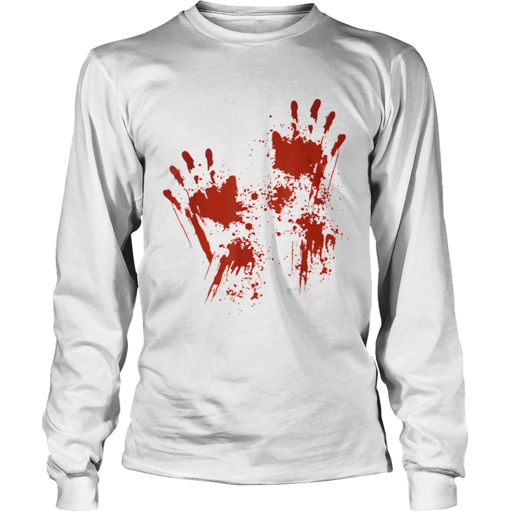 Halloween Blood Hands Costume Zombie Outfit  LongSleeve