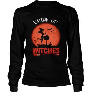 Halloween Drink Up Withches Vintage Wine Lover Gift TShirt LongSleeve