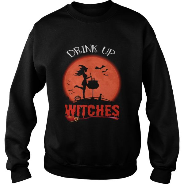 Halloween Drink Up Withches Vintage Wine Lover Gift TShirt Sweatshirt