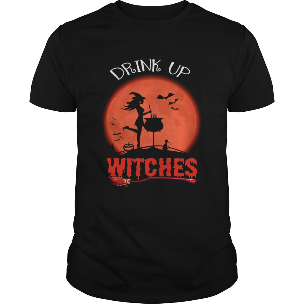 Halloween Drink Up Withches Vintage Wine Lover Gift TShirt Unisex