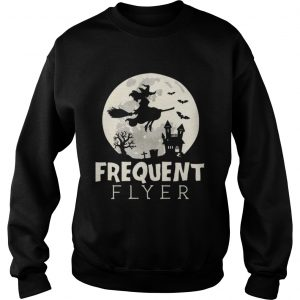 Halloween Witch Costume Frequent Flyer  Sweatshirt