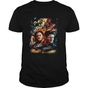 1572685797Supernatural Family Don't End With Blood Signatures Shirt Unisex