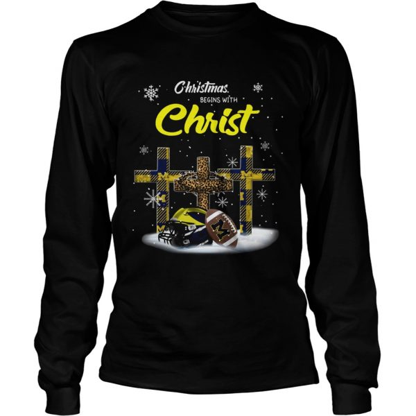Christmas Begins With Michigan Wolverines  LongSleeve
