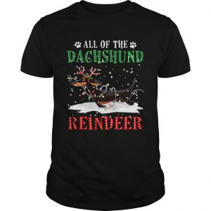 All of the Dachshund reindeer light christmas  Unisex