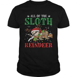 All of the Sloth reindeer light christmas  Unisex