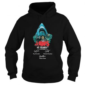 45 years of Jaws 1975 2020 signatures  Hoodie