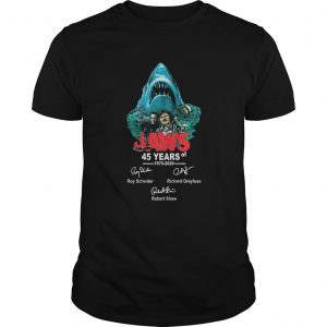 45 years of Jaws 1975 2020 signatures  Unisex